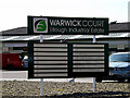 TM4488 : Warwick Court sign by Adrian Cable