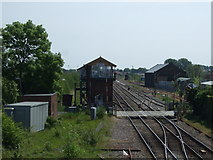 TL4197 : Railway heading east from March Railway Station by JThomas