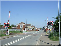 TL4197 : Level crossing on Norwood Road by JThomas