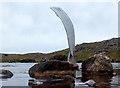 NG8071 : Propeller blade at the Fairy Loch crash site by John Allan