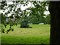 TQ2874 : Mowing Clapham Common by Stephen McKay