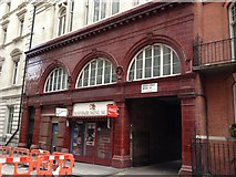 TQ2880 : Former tube station Down Street entrance by J WILLIAMS