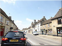 SU2199 : Part of the High Street in Lechlade by Jeremy Bolwell