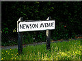 TM4888 : Newson Avenue sign by Adrian Cable