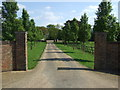 TF4107 : Driveway, Inham Hall by JThomas
