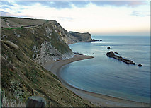 SY8080 : Man o' War Cove, West Lulworth by Dylan Moore