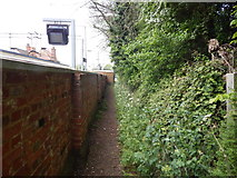 TM0321 : Path East of Wivenhoe railway station by Hamish Griffin
