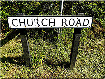 TM4888 : Church Road sign by Adrian Cable