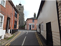 TM0321 : The end of West Street, Wivenhoe by Hamish Griffin