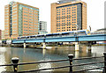 J3474 : The Lagan railway bridge, Belfast (May 2014) by Albert Bridge