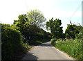 TM4388 : Cucumber Lane & bridleway by Geographer