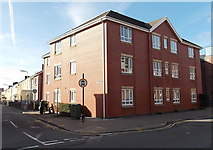 SS7597 : 3-storey block of flats on a corner of Windsor Road, Neath by Jaggery