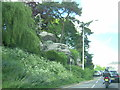 TQ5839 : Rocks beside London Road, Royal Tunbridge Wells by Christopher Hilton