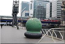 TQ3780 : A buoy or a mine? West India Docks by N Chadwick