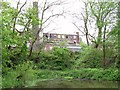 SJ9393 : Overgrown remains of canal basin near Unity Mills by Christine Johnstone