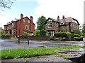 SJ9689 : Houses on Station Road, Marple by Christine Johnstone