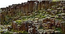 C9444 : County Antrim - Giant's Causeway - Grand Causeway - Uneven Basalt Columns by Suzanne Mischyshyn