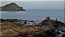 C9444 : County Antrim - Giant's Causeway - Little Causeway & Great Stookan by Suzanne Mischyshyn