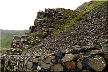 C9444 : County Antrim - Giant's Causeway - Cliffs along Port Noffer by Suzanne Mischyshyn