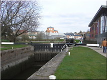 SO8453 : Worcester & Birmingham Canal - Diglis locks by Chris Allen