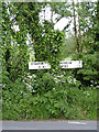 SK5421 : Fingerpost, Stanford by Alan Murray-Rust