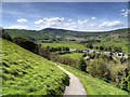 SK1482 : View towards Mam Tor from Castle Hill by David Dixon