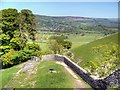 SK1482 : South-east Wall, Peveril Castle by David Dixon