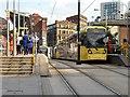SJ8498 : Metrolink Stop at Shudehill During Victoria Station Redevelopment by David Dixon