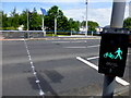 H4572 : New pedestrian crossing, Omagh by Kenneth  Allen