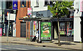 J3674 : Connswater bus stop (EWAY), Belfast - May 2014(2) by Albert Bridge