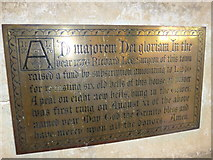 SP7006 : St Mary, Thame: bell commemoration by Basher Eyre