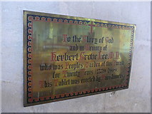 SP7006 : St Mary, Thame: memorial (21) by Basher Eyre
