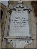 SP7006 : St Mary, Thame: memorial (23) by Basher Eyre