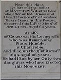 SP7006 : St Mary, Thame: memorial (35) by Basher Eyre