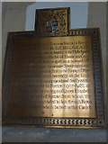 SP7006 : St Mary, Thame: memorial (44) by Basher Eyre