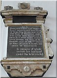 SP7006 : St Mary, Thame: memorial (50) by Basher Eyre