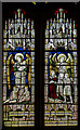 TQ7213 : Stained glass window, St Laurence church, Catsfield by Julian P Guffogg