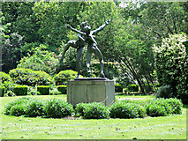 TQ2779 : Statue in Cadogan Place Gardens by Thomas Nugent