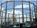 TQ2877 : Battersea gas holders by Thomas Nugent