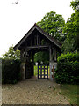 TM1577 : Lych Gate of St Nicholas the Great's Church by Adrian Cable