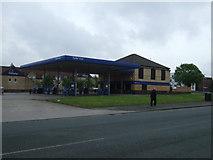SJ8796 : Service station (closed), Belle Vue by JThomas
