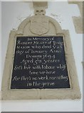 SP7006 : St Mary, Thame: memorial (58) by Basher Eyre