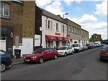 TQ2182 : Cafe in Hythe Road London NW10 by David Hawgood