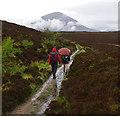 NG6218 : Path from Boreraig to Suardal by Ian Taylor