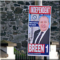 J5082 : 'Independent' election poster, Bangor by Rossographer