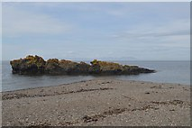 NS2515 : Rocks offshore by Durnure Castle by John Firth