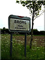 TM1276 : Brome Village Name sign on New Road by Adrian Cable