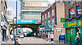 TQ3480 : Watney Street and entrances to Shadwell Stations by Ben Brooksbank