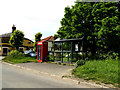 TM1074 : Telephone Box & Bus Shelter off Mellis Road by Adrian Cable