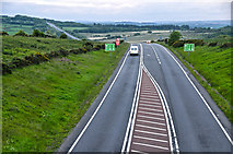 SS8521 : North Devon : The A361 by Lewis Clarke
